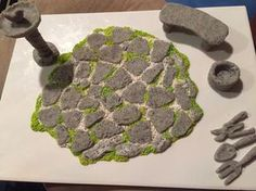 How to make a miniature fairy paved crazy stone path. This is a very quick and easy thing to make. I would say any beginner to advanced could whip this up in le