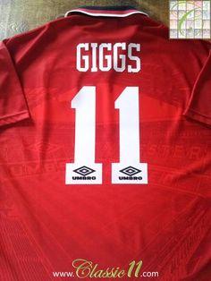 Relive Ryan Giggs s 1994 1995 Premier League season with this original  Umbro Man Utd home 341e3c3c5