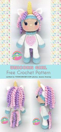 Mesmerizing Crochet an Amigurumi Rabbit Ideas. Lovely Crochet an Amigurumi Rabbit Ideas. Crochet Gifts, Cute Crochet, Crochet For Kids, Crochet Baby, Crotchet, Crochet Amigurumi, Amigurumi Doll, Crochet Dolls, Crochet Unicorn Hat