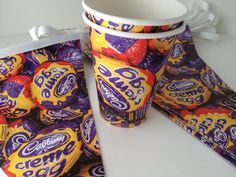 Cups and bunting, product promotions Paper Cups, Bunting, Printed, Garlands, Buntings, Prints, Banting