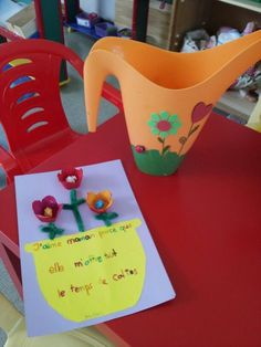 Idée mignonne pour la Fête des mères: Arrosoir décoré :-)