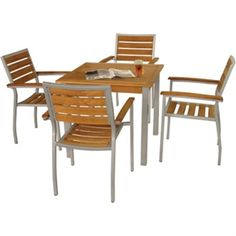 Bolero Wood and Aluminium Square Table - Y821 - Buy Online at Nisbets