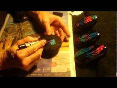 How to paint feather rocks