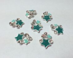 Teal Star Cluster Nail Charm