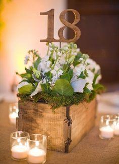 Simple wedding centerpiece... elegant, rustic and inexpensive