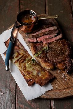 Grilled sirloin with Peppercorn whisky sauce is the perfect Valentine's dinner. It's quick and easy to make and impressive on the plate.