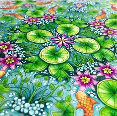 Pin by naenae nanny on coloring technique тайные сады, цветные карандаши, р Secret Garden Coloring Book, Coloring Book Art, Colouring Pages, Adult Coloring Pages, Johanna Basford Books, Johanna Basford Coloring Book, Magical Jungle Johanna Basford, Johanna Basford Secret Garden, Chroma Key