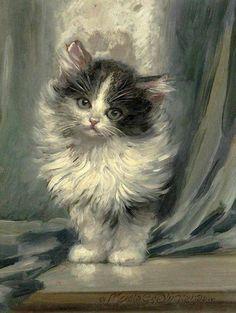 spectersanddreams:  Cat paintings by Meta Plückebaum