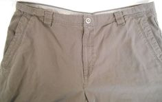 COLUMBIA Shorts Mens Cargo Size 42 Cotton Hiking Brown  Omni-Shield #Columbia #Cargo