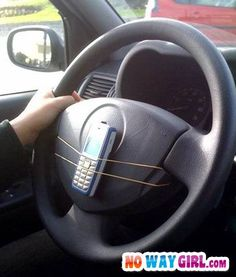 Nokia Hands Free Car Phone ~ any transport. Redneck Baby, Redneck Humor, Phone Jokes, The Cable Guy, Kit Main Libre, Hands Free Phone, Distracted Driving, Strange Photos, Crazy Photos