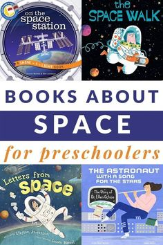 Enjoy these out of the world preschool books about space for preschoolers as you explore the moon, rockets, and more. #space #preschool #GrowingBookbyBook Space Activities For Kids, Space Preschool, Preschool Books, Toddler Preschool, Book Activities, Activity Books, Preschool Activities, Toddler Books, Childrens Books