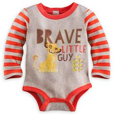 Simba Long Sleeve Disney Cuddly Bodysuit for Baby Disney Baby Clothes, Baby Kids Clothes, Baby Disney, Lion King Nursery, Lion King Baby, Baby Boy Outfits, Kids Outfits, Le Roi Lion, Boy Onesie