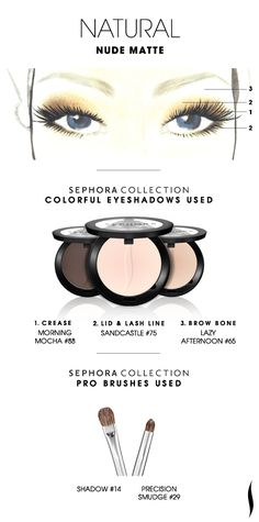 NATURAL Eye Shadow: Nude Matte  HOW TO. #sephoracollection #sephora #eyeshadow
