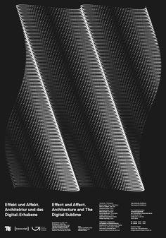 """kronbichler: """" Architecture and The Digital Sublime. Poster for Event at Technische Universität Berlin. Design: Mut, Thomas Kronbichler (design), Julian Koschwitz (coding) """""""