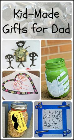 Father's Day presents kids can make for their dads and grandpas.