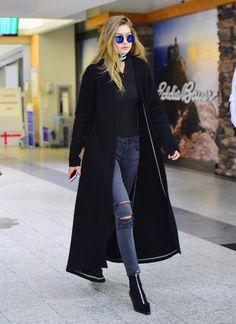 Gigi Hadid - JFK Airport, New York City, March 24, 2016.