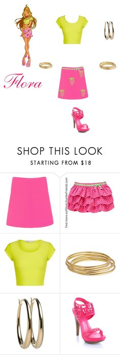 """Flora (Club winx)"" by itzelperaltadelacruz ❤ liked on Polyvore featuring Courrèges, Gymboree, Cameo Rose, Astley Clarke, Brooks Brothers and Liliana"