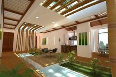 AMBIENTACIÓN CON GUADUA Filipino Architecture, Natural Architecture, Bamboo Architecture, Tropical Architecture, Concept Architecture, Facade Architecture, Casas Country, Bamboo Building, Tree House Designs