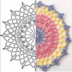 Image gallery - Her Crochet Motif Mandala Crochet, Crochet Circles, Crochet Doily Patterns, Crochet Chart, Crochet Squares, Crochet Doilies, Crochet Flowers, Crochet Stitches, Crochet Doily Diagram
