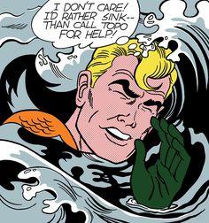 Aquaman in Roy Lichtenstein's Drowning Girl by John Trumbull.