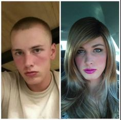 Male to Female Transgender Timeline 1 Year On Hormones (HRT) Male To Female Transformation, Makeup Transformation, Transgender Before And After, Transgender Mtf, Transgender People, After Life, Gorgeous Women, Beautiful, Girls Makeup