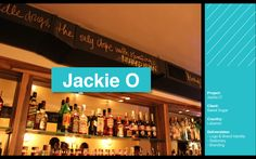 Jackie O bar branding identity   #bar #branding #identity #agency #creative #design #campaign #event #Beirut #Lebanon #hamra