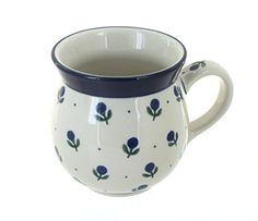 Polish Pottery Blueberry Bubble Mug * More info could be found at the affiliate link Amazon.com on image.