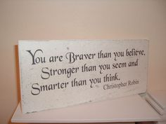 Lovely christopher robin quote shabby distressed sign by debbri
