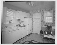 1947...Potomac Electric Power Co. apartments and kitchens. Kitchen at 103 Ellingson Dr. I