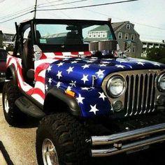 flagged Jeep
