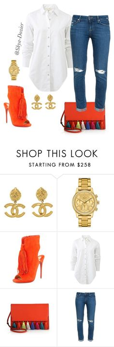 #2 Spring/Summer by shya-dozier on Polyvore featuring rag & bone, Paige Denim, Christian Louboutin, Rebecca Minkoff, Chanel, Lacoste, women's clothing, women's fashion, women and female