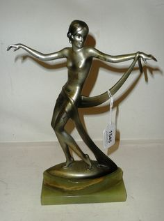 Josef Lorenzl (1892-1950): A Silvered and Cold-Painted Bronze Figure