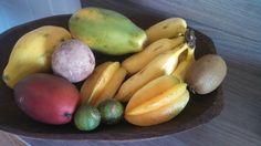 Manga palmer, mamão, sapotí, limão cravo, carambola, banana prata, kiwi