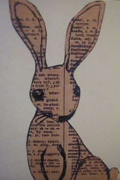 Old book -bunny.