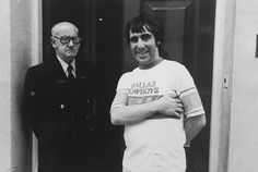 Original photo of Keith Moon after he was kicked out of the BBC Club for drunken behavior - and trashing the place (private collection).