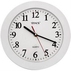 Relógio de Parede Yins YI15044 Branco 26cm - Megazim