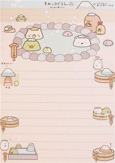 yellow and blue Sumikkogurashi shy animals bath day note pad con pegatinas 5