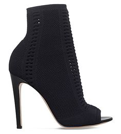 GIANVITO ROSSI Vires Peep-Toe Leather Boots. #gianvitorossi #shoes #boots