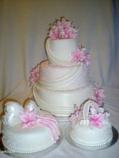 svatební dort -orchidej