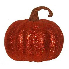 Glitter Pumpkin Figurine (Set of 2)