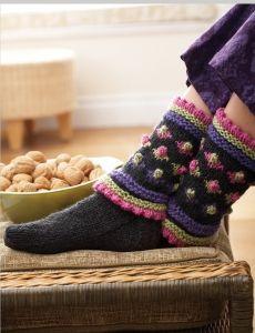 Ruffle Edged Sock   Yarn   Free Knitting Patterns   Crochet Patterns   Yarnspirations