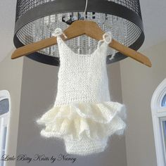 Mohair Romper with Ruffles  Newborn Photo Props  by artsandaccents