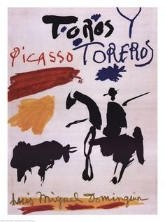 Toros y Toreros. (Artist Book) Dominguin, Luis Miguel, Georges Boudaille, and Pablo Picaso (title page and cover designed by Picasso) Picasso Prints, Picasso Art, Picasso Sketches, Picasso Paintings, Framed Art Prints, Fine Art Prints, Poster Prints, Toro Picasso, Art Espagnole