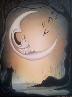 Swamp Tails Halloween Gothic Art Print Artist Heather Gleason