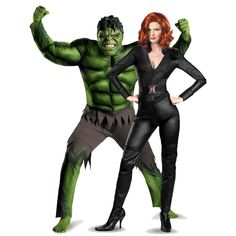 Avengers Black Widow Deluxe and Hulk Couples Costume - On Sale Today! Superhero Couples Costumes, Couples Cosplay, Couple Halloween Costumes, Halloween Couples, Black Widow And Hulk, Black Widow Costume, Halloween 2015, Halloween Ideas, Hallows Eve