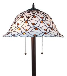 Shop for Tiffany-style Jeweled Design Glass Pearl Floor Lamp. Get free delivery On EVERYTHING* Overstock - Your Online Lamps & Lamp Shades Store! Tall Floor Lamps, Floor Lamp With Shelves, Custom Stained Glass, Contemporary Floor Lamps, Lamp Shade Store, Tiffany Lamps, Floor Decor, Flooring