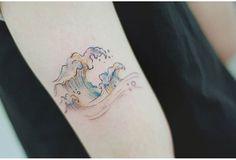 Tattoos, Instagram Posts, Wave, Paint, Tattoo Wave, Tatuajes, Picture Wall, Tattoo, Paintings