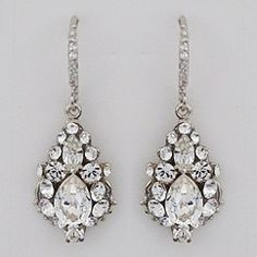 Petite Rhinestone Drop Earrings designed by Haute Bride.  These are sure to become one of our best selling wedding earrings.