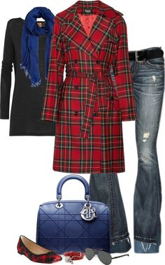 """Plaid (I)"" by partywithgatsby ❤ liked on Polyvore"