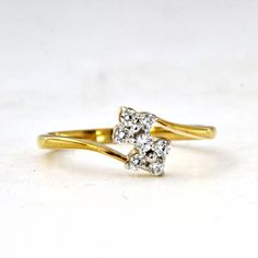 White Simulated Diamond Yellow Gold Over 925 Sterling Engagement Bypass Ring Bypass Ring, Cute Jewelry, White Gold, Engagement, Diamond, Yellow, Rings, Accessories, Ebay